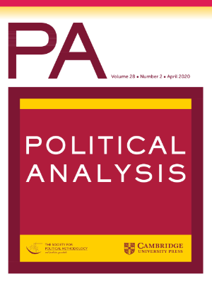 Political Analysis journal, April 2020 issue